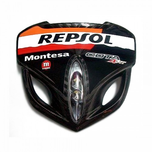 """61301-REP-SOL. Kit faro Racing f.carb. c/ adh. Race Replica (Repsol)"""