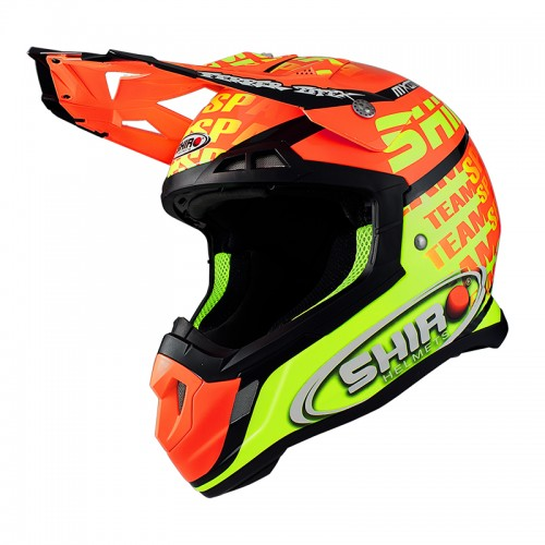 """1061 00. Casco Shiro MX-917 MXoN fluorescente"""