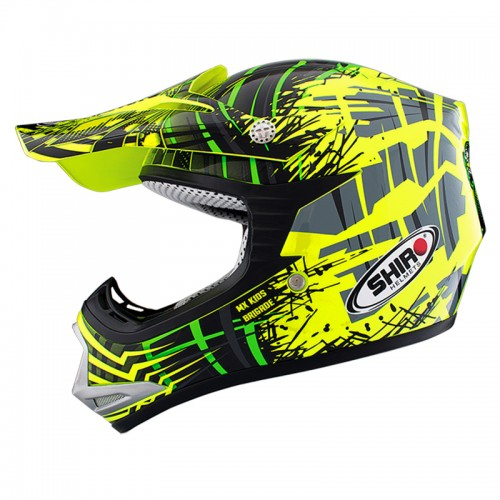 """1140 ??. Casco Shiro MX-306 Brigade Kid (infantil)"""